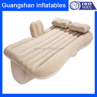 custom outdoor foldable full size flocking inflatable air car bed for adult