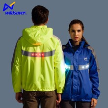 led <strong>safety</strong> hiking reflective motorcycle waterproof softshell jacket