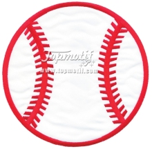 Baseball Applique Machine Embroidery Digitized Design