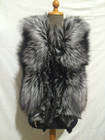 Real Silver Fox Fur Vest