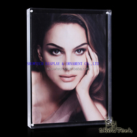 "Magnetic 3.5""x5"" handmade transparent acrylic hot sexy photo frame ST-XK3550-14"