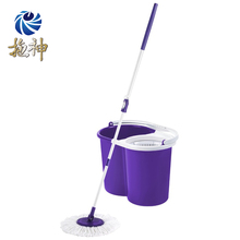 Twist&Shout Stainless Steel Magic Microfiber Mop with Wringer Mop Bucket 360 Spin Mop