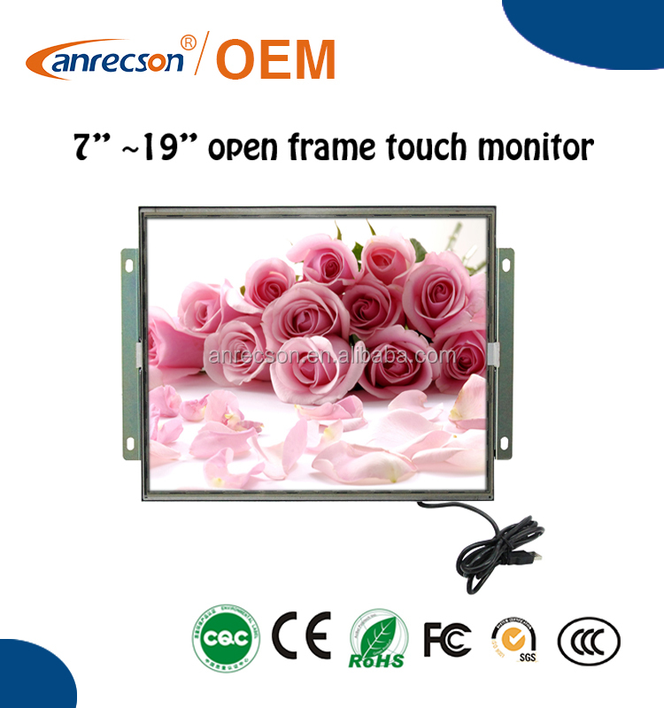 "8"" robust open frame touch monitor for food processing"