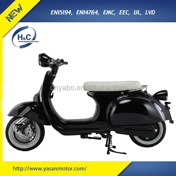 EEC 1500W vintage Vespa e motorcycle electric bike made in china