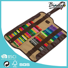 hot sell 72 color pencil with roll up/color pencil with canvas bag