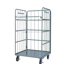 Insulated metal steel wire mesh cargo storage roll container/roll cage