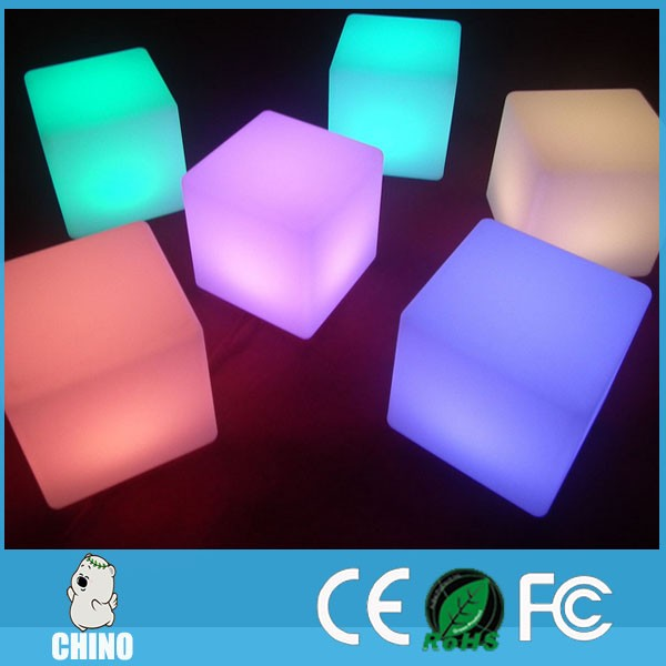 Illuminated LED Cube Seat Cube Chair Square LED Cube With Remote Control