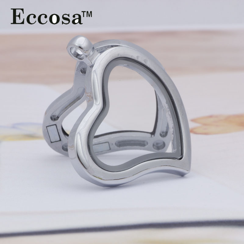 2016 Newest Style Silver Zinc Alloy Heart Floating Charm Perfume Locket