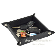 Promotion Square Desk PU Leather Storage Tray
