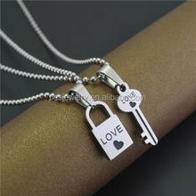PES fashion jewelry! Simple Design Lock & Key Combination One Pair Forever Together Couple Pendant (PES3-1032)