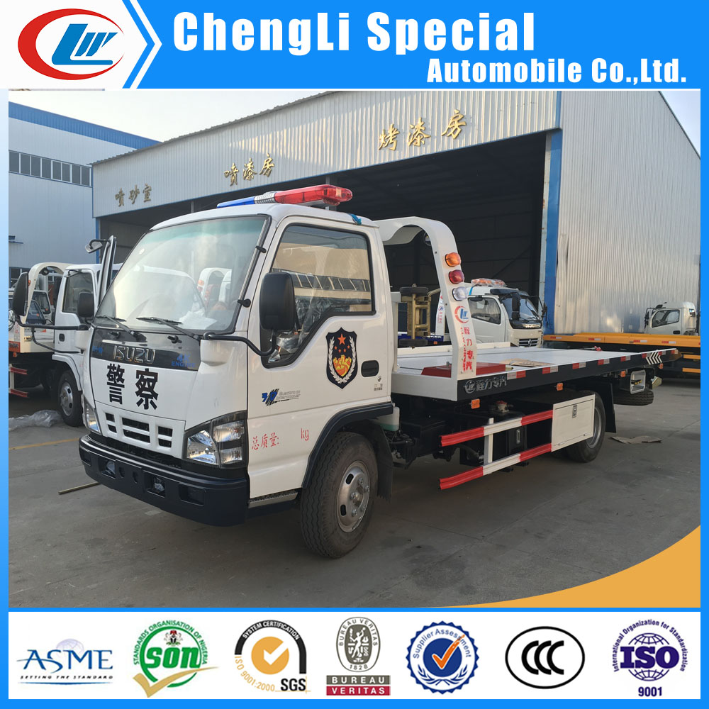China bus towing vehicle flatbed road wrecker 4ton Sino wrecker tow trucks