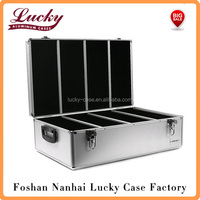 High quality Black 1000 CD/DVD Aluminum Storage DJ Case