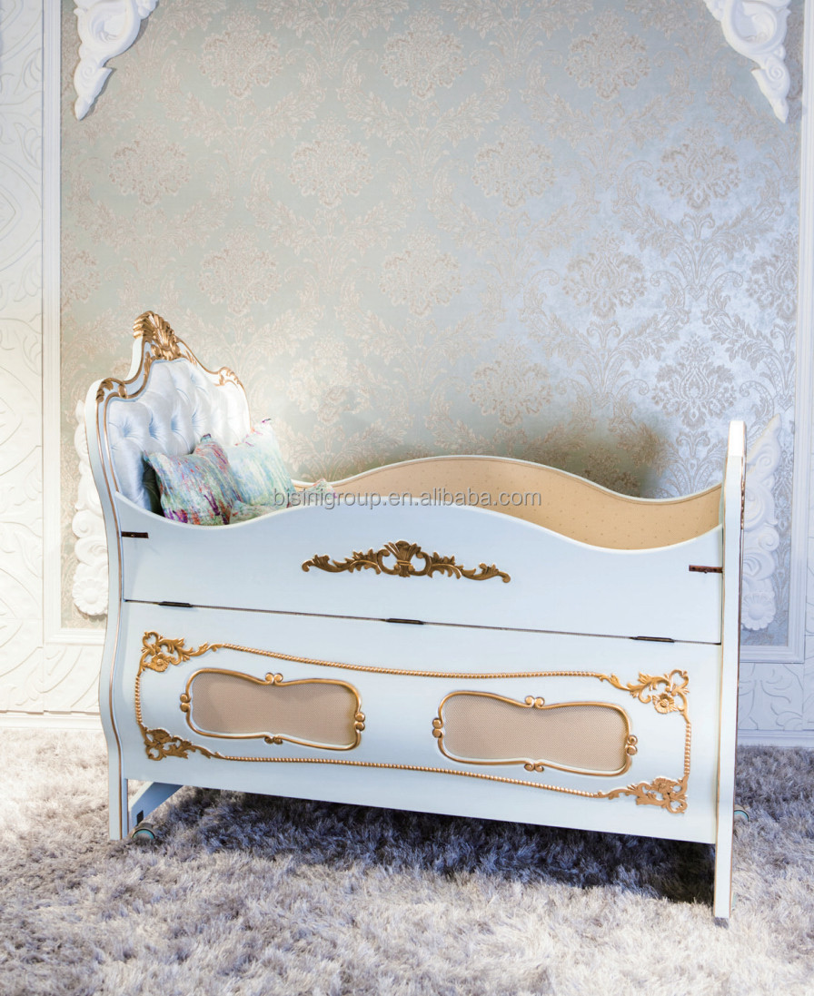 Bisini new arrival design bed side baby cot, luxury baby cot bed with drop side, customized color baby crib - BF07-70310