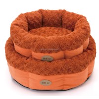 2016 Circular dog kennel /round dog bed /Suede +rose fleece