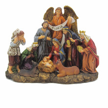 Holy Family Figurine Nativity Set Resin Religious Craft