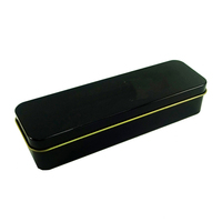Gift Packaging Factory Wholesale Cheap Rectangle 0.23mm Black Tin Box