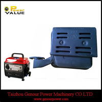 Portable Generator Spare Parts Muffler Exhaust Silencer For Gasoline Petrol Generator950 0.7kg 0.9kg 1.1kg