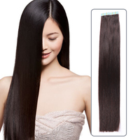 Keratin Stick Tape in Human Hair Extension 100% European Hair Ombre Remy Tape Hair Extension
