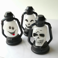 LED Skull Lantern Music Sounds Light up Scary Skeleton Halloween