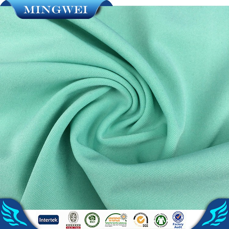 China direct factory non-woven garment 97 polyester 3 spandex fabric