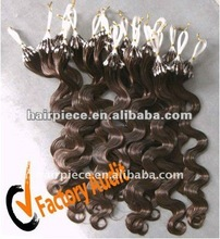 Easy loop ring hair extensions/ 100% human hair/ micro ring human hair extensions