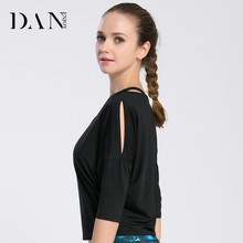 Simple Fashion Loose Blank Sports Yoga Tops Quick Dry Breathable Bat Sleeve Ladies Half Sleeve Shirt