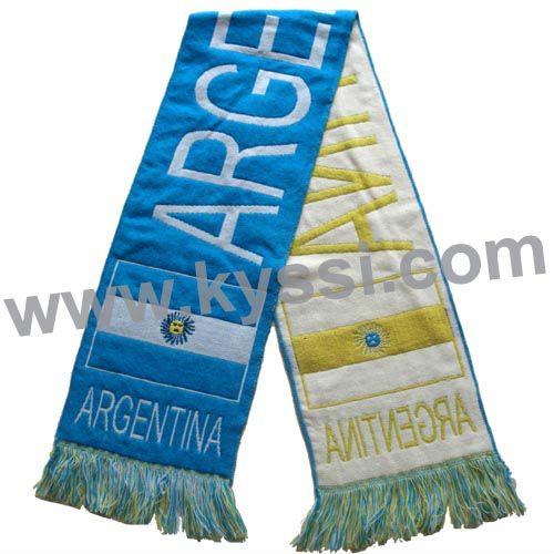 Argentina Soccer National Flag Woven Football Scarf