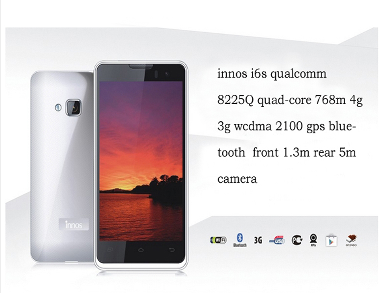 INNOS i6S MSM8225Q smartphone Android 4.1 OEM/ODM 4.0 inch 512M+4G 3G GPS SmartPhone 1MP+5MP Camera Quad Core 4.0inch smartphone