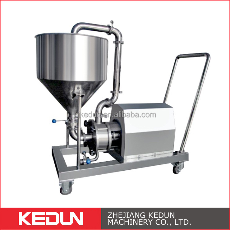 Beer Dairy Processing Moveable Dispersed High Shearing Emulsifier Milk Pump