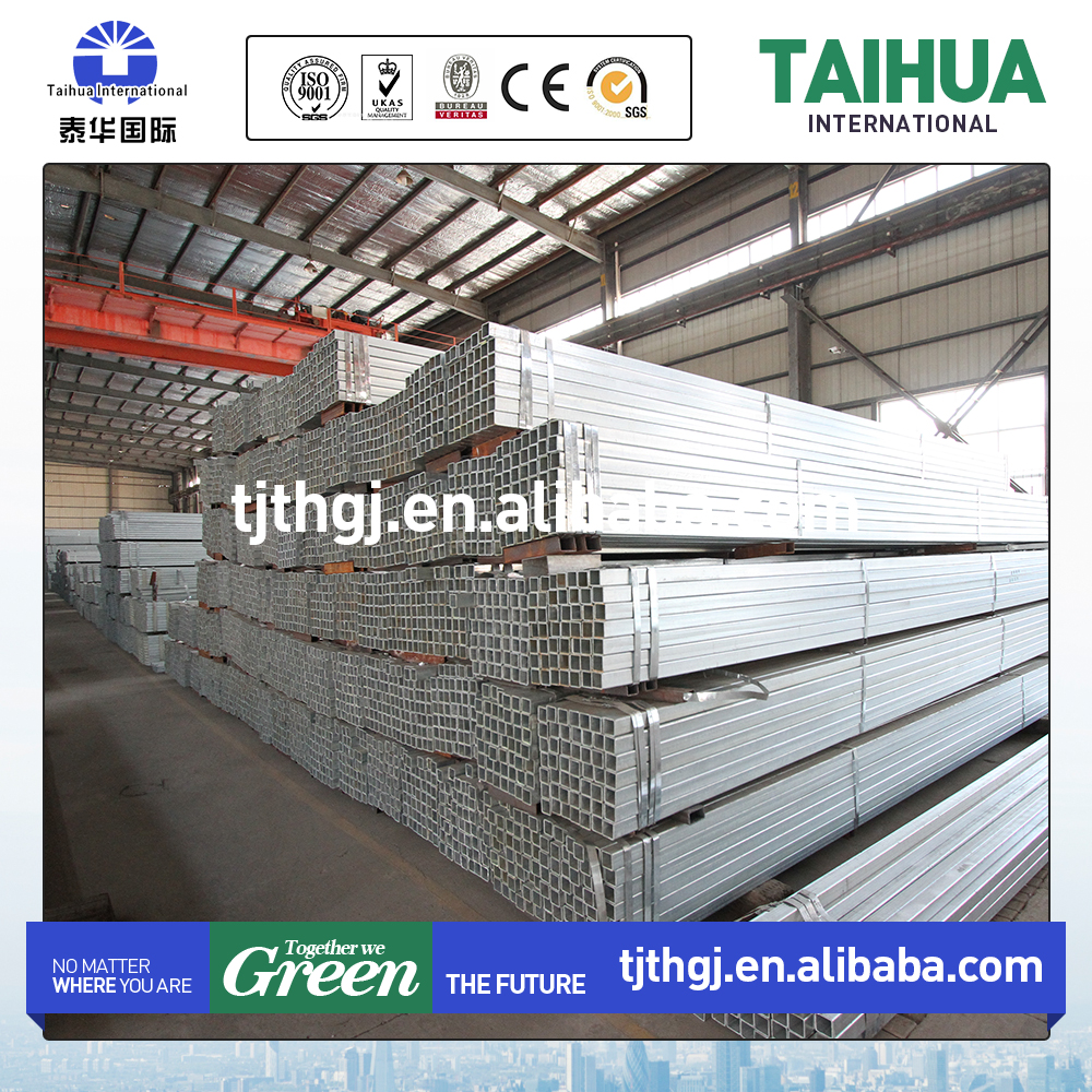 Astm a500 Gr.B Galvanized Rectangular/Square Hollow Section Tube Carbon Steel Pipe