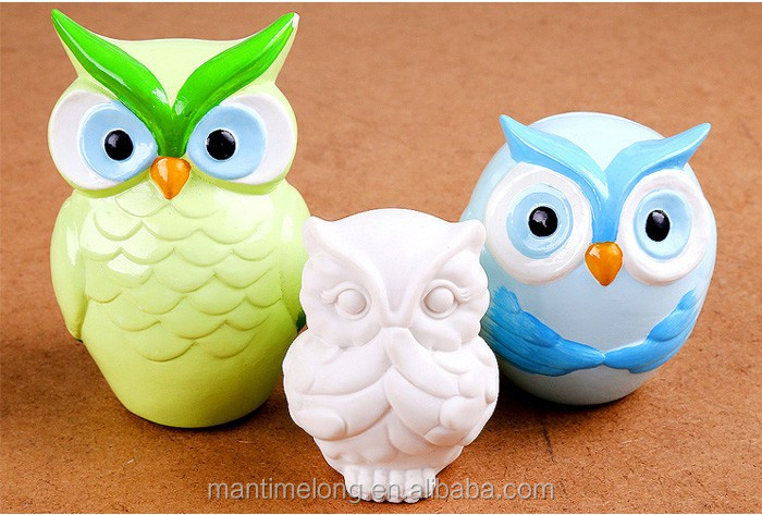 Owl Art Decoration Resin piggy bank home decorations Ornament Resin Craft