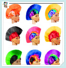 Mohawk Custom Colors Team Football Fan Synthetic Wigs HPC-2532