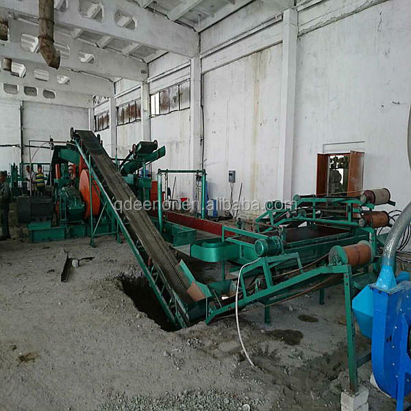 Waste tyre recycling plant rubber powder making machine for Tractor tire recycling