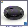 Oval Purple Fire Cubic Zirconia Gemstone/Wholesale CZ for jewelry