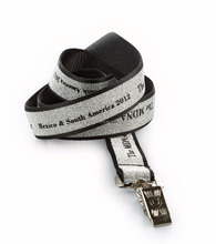 Popular glitter sparkle lanyards with bulldog clip