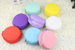 Fancy Silicone Macaron wallet waterproof coin purse with zipper