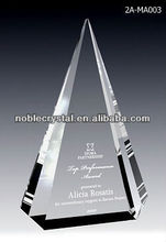 Noble New Design Crystal Capstone Award Plaque