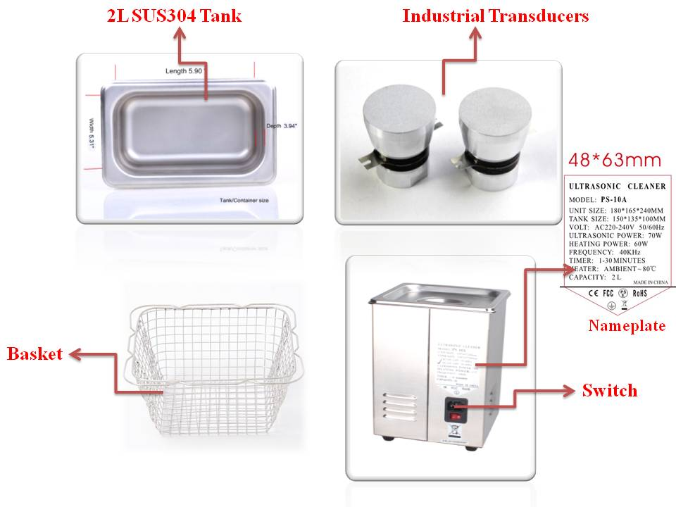 Ultrasonic cleaner for chemical lab use Jeken PS-10A 2L digital ultrasonic cleaner with heater
