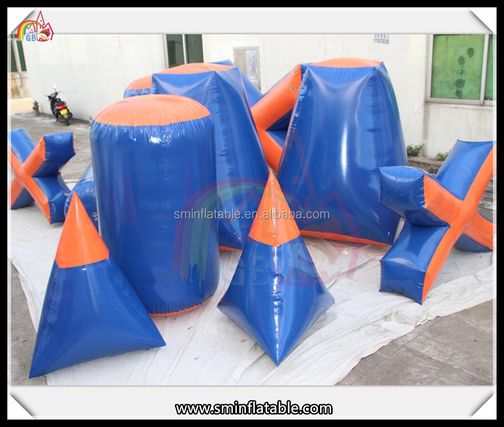Outdoor inflatable paintball shooting range,inflatable paintball bunkers,airsoft paintball bunkers