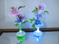 Narcissus Wedding decoration led Novelty artistic optical fiber flower Christmas New Year party