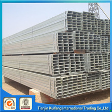 New design /q235b steel properties galvanized square steel pipe with great price