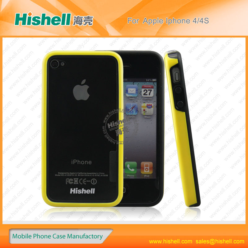 mobile phone accessories tpu frame case for iphone4/4s