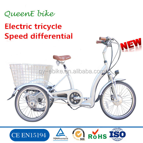 QUEENE/ Fashion design tricycle passenger taxi three wheels electric bicycle