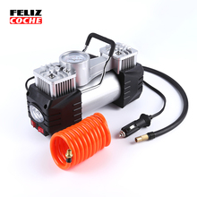 12V Car air pump heavy duty metal case gauged portable air compressor