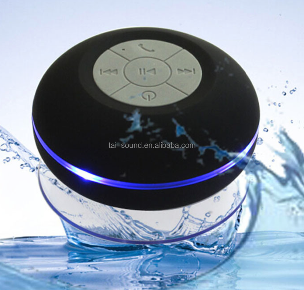 2016 mini Portable Audio Surround Sound Waterproof wireless Speaker with LED Light for Christmas promotion
