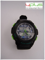 quartz wristwatch with LCD display sport watch with CE and ROHS