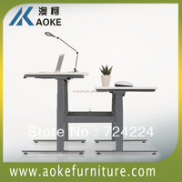 Stainless steel adjustable table base standing up and down