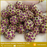 RG15 Fuchsia Crystal Beads For 10mm DIY Bracelet Making Loose Bead