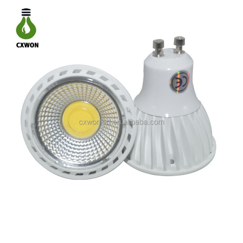 Super Brightness GU10 MR16 3000K 4000K 6000K 5W CRI>80 420LM COB Led <strong>Spotlights</strong>