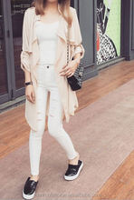Monroo The new spring and autumn 2015 Korea style in the women's windbreaker long coat